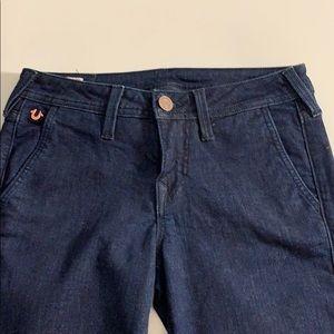 True Religion Wide Leg Dark Wash Jeans 28